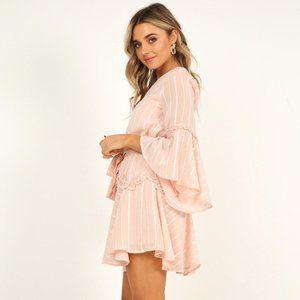 Showpo Slow Me Down Dress in Blush